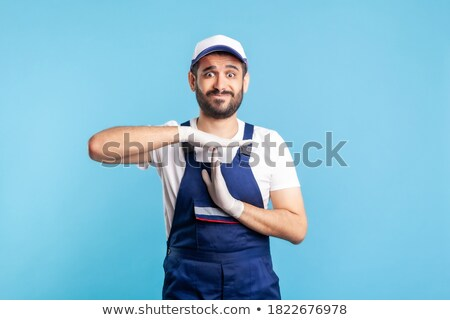 plumber gesture stop stock photo © studiostoks