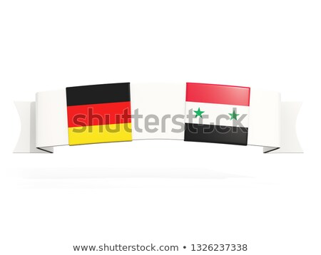 Bandeira dois praça bandeiras Alemanha Síria Foto stock © MikhailMishchenko