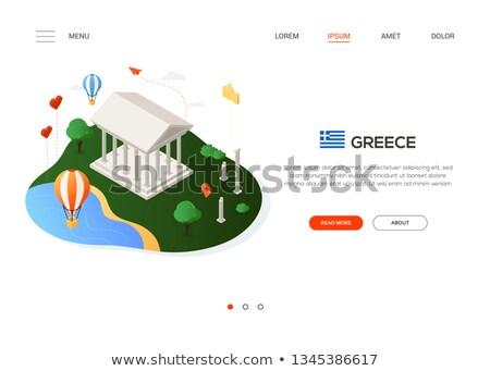 посещение Греция современных красочный изометрический веб Сток-фото © Decorwithme