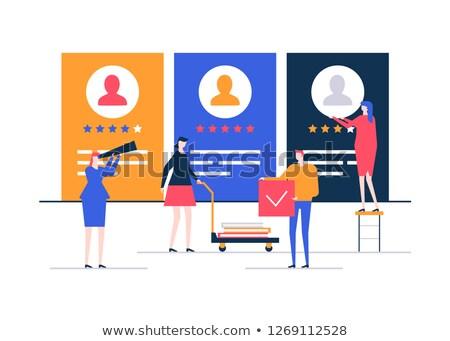company rating   flat design style colorful illustration stock photo © decorwithme