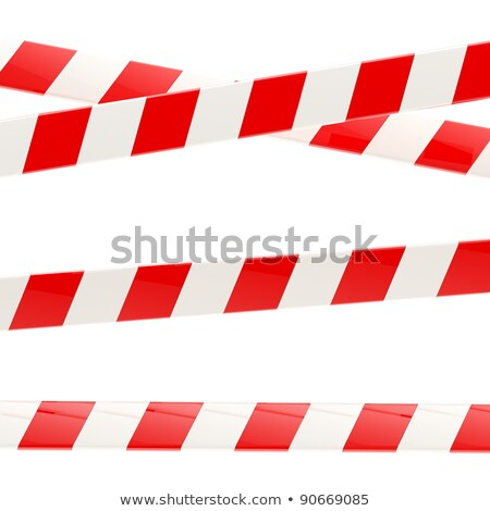 Red barrier tape 3D Stock photo © djmilic