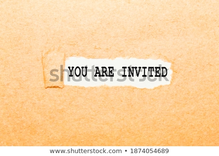 Stock photo: You Are Invited Torn Paper Concept