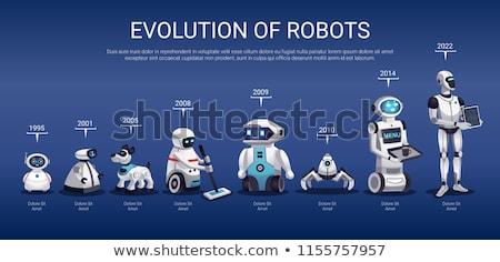 Stock fotó: Humanoid · robot · fejlesztés · mérnök · sebességváltó · 3d · illusztráció