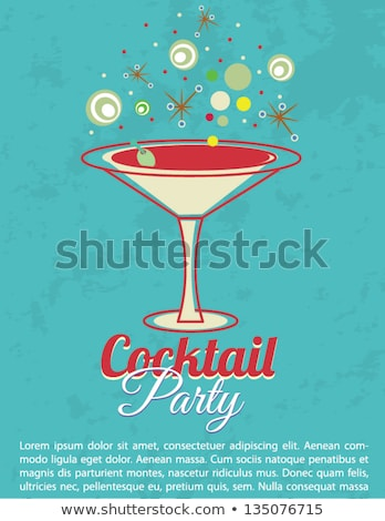 Kleur vintage cocktail party banner eps 10 Stockfoto © netkov1