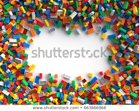 Border template with different toys in background Stock photo © colematt