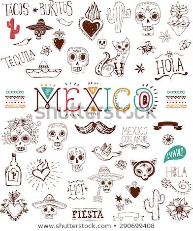 Mexican sketch set Foto stock © netkov1