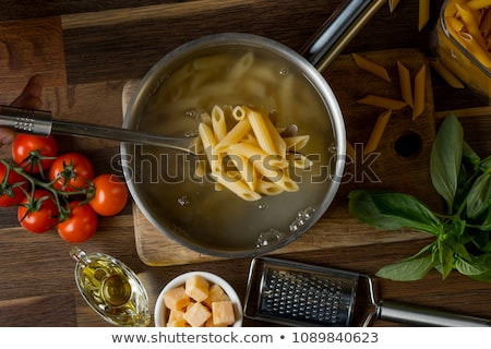 Stock photo: Cooking pasta