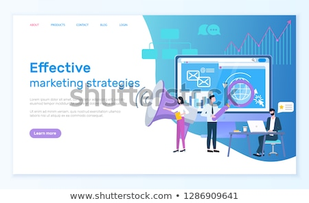 Effective Marketing Strategies Online Web Page Zdjęcia stock © robuart
