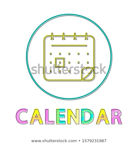Calendar Bright Linear Round Icon for Modern App Stock fotó © robuart