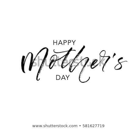 Feliz dia das mães cartão postal projeto cartão primavera coração Foto stock © Anna_leni