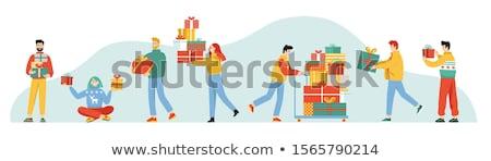hediyeler · Noel · örnek · dizayn · kutu - stok fotoğraf © bluering