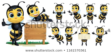set of bee character stock photo © bluering