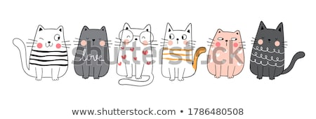 An isolated drawing of a cat Stock photo © colematt