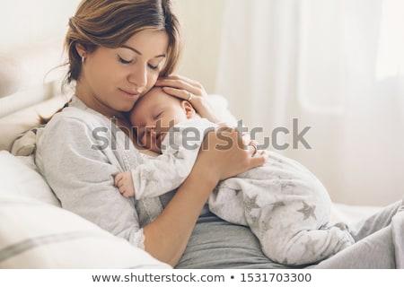 портрет красивой матери месяц старые ребенка Сток-фото © Lopolo