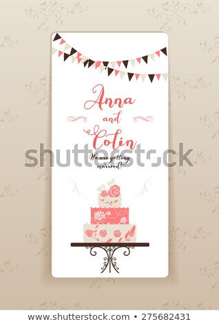 Wedding Cake, Groom and Bride, Newlywed Vector Stock photo © robuart