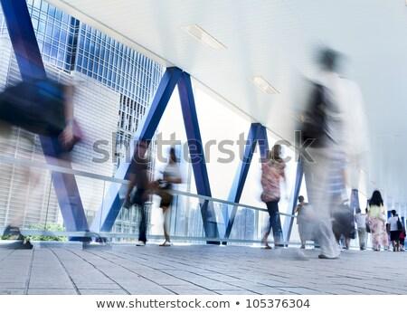 csoport · üzletemberek · sétál · átalakulás · digitális · kompozit · üzlet - stock fotó © wavebreak_media