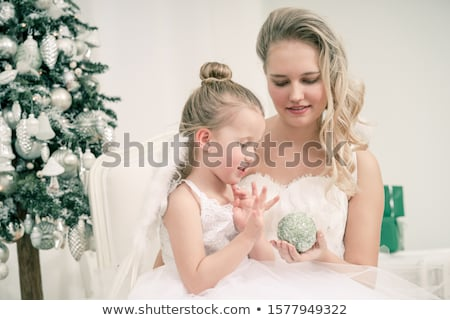 portrait of happy mother and adorable baby celebrate christmas new years holidays toddler with mo stock photo © galitskaya