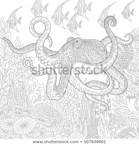 ベクトル カラフル 海 海 生活 テンプレート ストックフォト © user_10144511