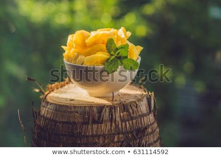 ピース パイナップル テクスチャ フルーツ 背景 ストックフォト © galitskaya