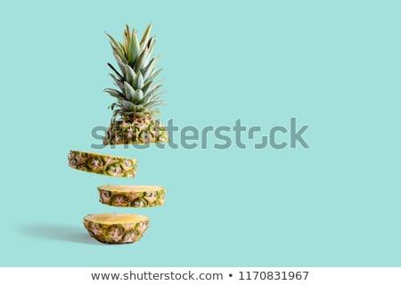 Ananász szeletek növényzet fa természet gyümölcs Stock fotó © galitskaya