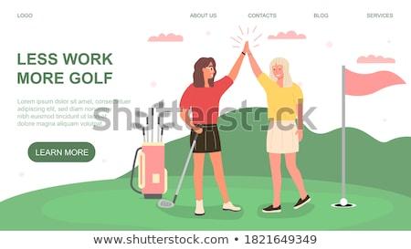 Feminino jogador de golfe golfe clube saco Foto stock © lichtmeister