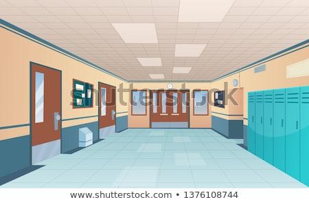 школы · прихожей · иллюстрация · пусто · окрашенный · ярко - Сток-фото © robuart