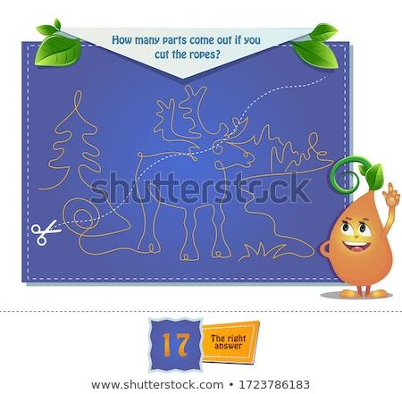 muitos · crianças · desenho · animado · tarefa · ilustração - foto stock © olena