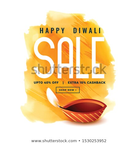 happy diwali sale banner in watercolor style Stock photo © SArts