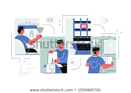 Buying goods process via internet app Stock photo © jossdiim