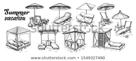 Vacances d'été plage meubles rétro vecteur Photo stock © pikepicture