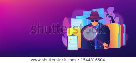 Nyomozás szalag fejléc titkosügynök keres nyomok Stock fotó © RAStudio