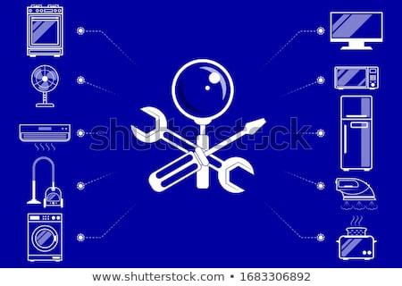Javítás háztartás készülékek szolgáltatás szerelő nagy Stock fotó © RAStudio