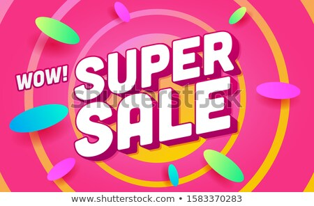 Buyer with Purchase, Super Sale, Shopping Vector Stock photo © robuart