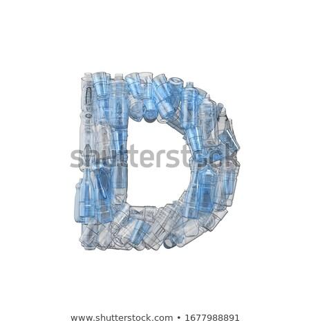 D betű műanyag szemét üvegek szennyezés ökológia Stock fotó © lightkeeper