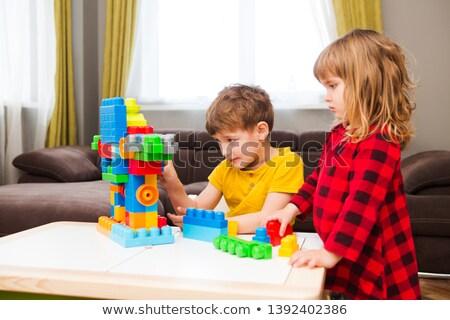 Kleurrijk plastic blokken spel kinderen kind Stockfoto © SArts