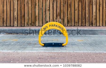 Parcheggio lock asfalto giallo illustrazione 3d auto Foto d'archivio © magraphics