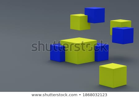 Colorful Blocks Combined, 3D Background Stock photo © make
