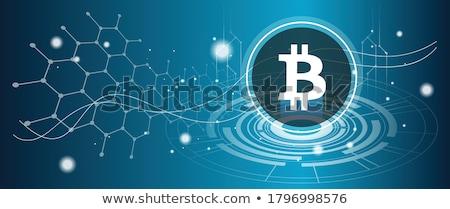 Bitcoin prijs voorspelling virtueel geld uitwisseling Stockfoto © RAStudio