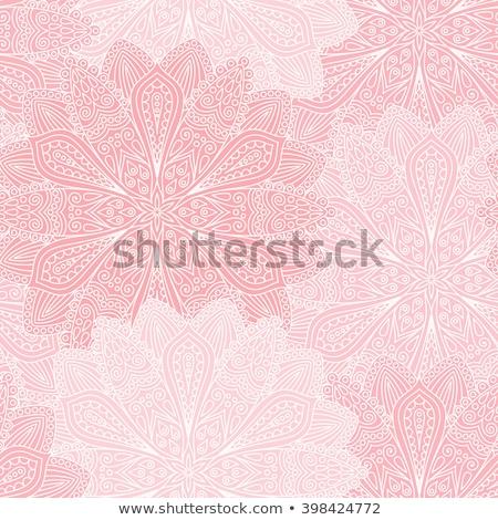 Mandala minták rózsaszín illusztráció étel háttér Stock fotó © bluering