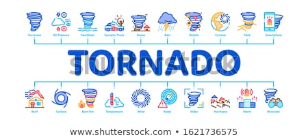 Tornado And Hurricane Minimal Infographic Banner Vector Stock photo © pikepicture