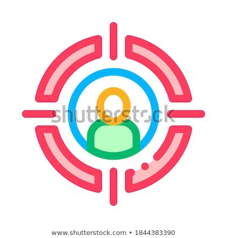 Férfi sziluett álláskeresés vektor ikon vékony Stock fotó © pikepicture