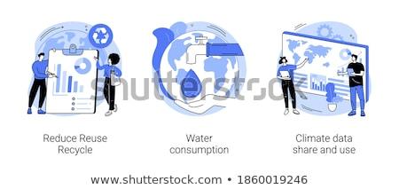 Water overconsumption vector concept metaphor Stock photo © RAStudio