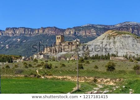 Kerk Spanje dame onderstelling hemel voorjaar Stockfoto © borisb17