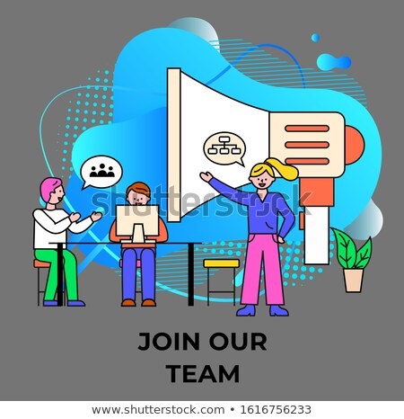 Poster Join our Team, Business Consulting Vector Stock photo © robuart
