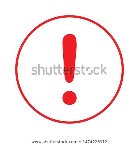 Triângulo perigo aviso atenção assinar ponto de exclamação Foto stock © kyryloff