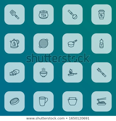 pottery spatula icon vector outline illustration Stock photo © pikepicture