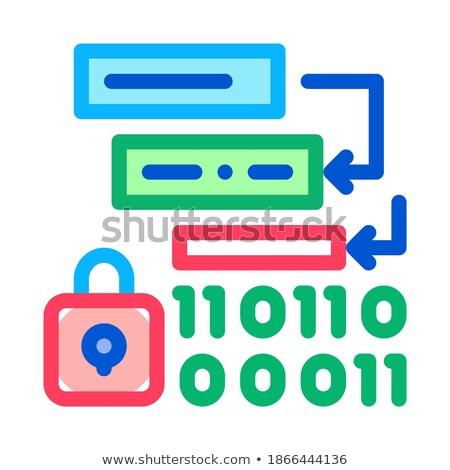 двоичный защиту алгоритм икона вектора Сток-фото © pikepicture