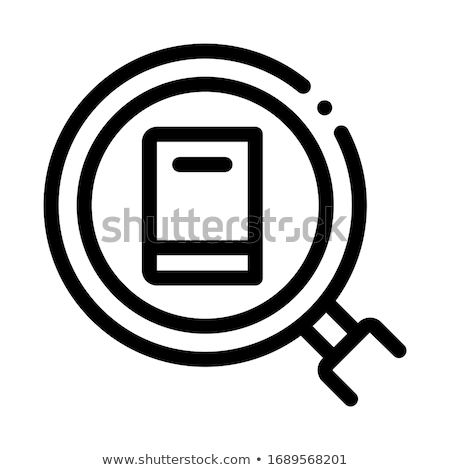specific book target icon vector outline illustration Stock photo © pikepicture
