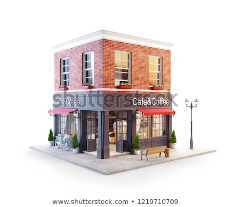 Coffeehouse Building, Cafe Exterior and Interior Stock photo © robuart