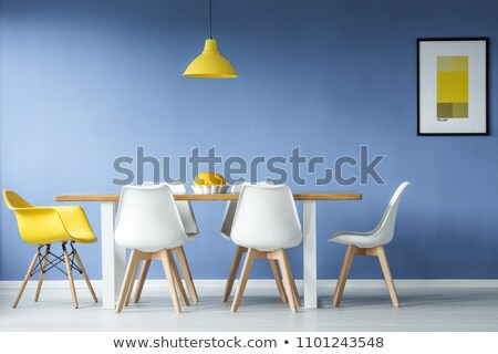 Empty desks and chairs in cafeteria room Stock photo © Giulio_Fornasar